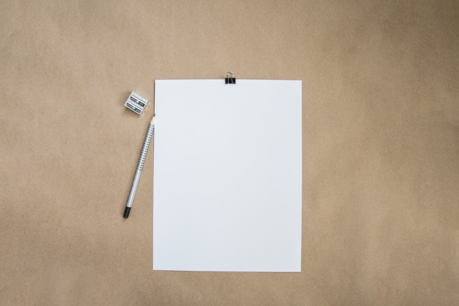paper with a pencil on a table